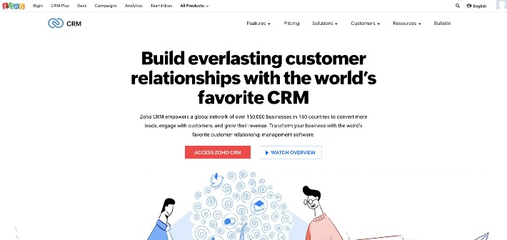 zoho crm for lead management